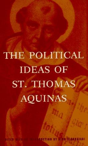 Download The Political Ideas of St. Thomas Aquinas (Hafner Library of Classics)