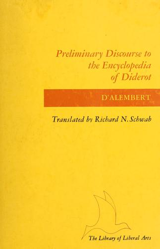 Preliminary discourse to the Encyclopedia of Diderot.