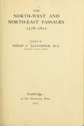 Download The North-west and North-east passages 1576-1611