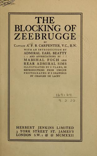 The blocking of Zeebrugge