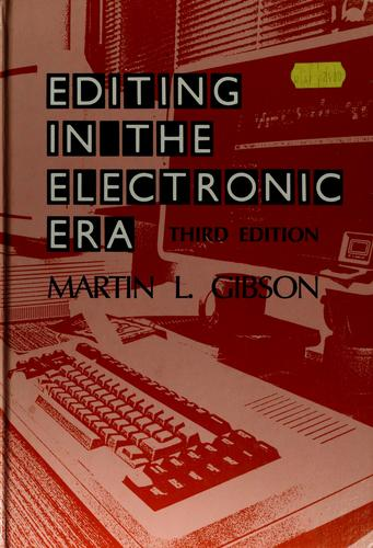 Download Editing in the electronic era