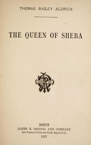 The queen of Sheba.