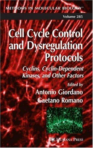 Image for Cell Cycle Control and Dysregulation Protocols (Methods in Molecular Biology)
