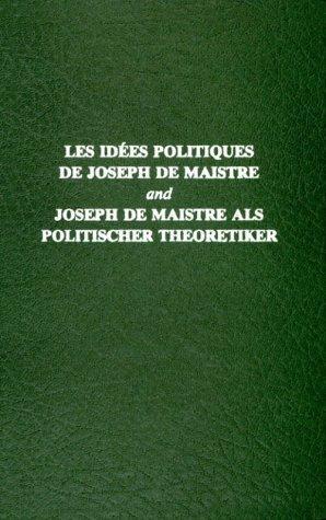 Les idées politiques de Joseph de Maistre