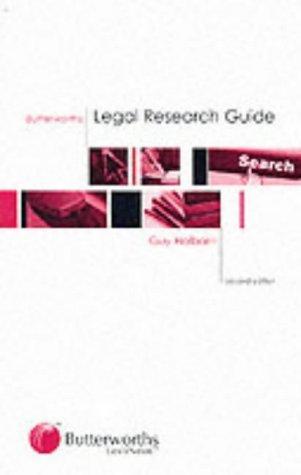 Butterworths Legal Research Guide