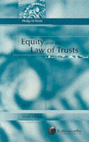 Equity and the law of trusts by Philip Henry Pettit