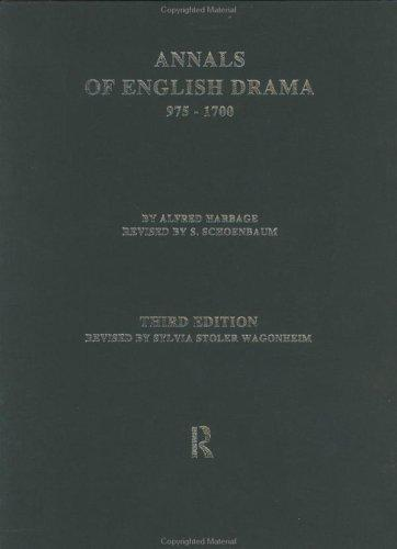 Download Annals of English drama, 975-1700