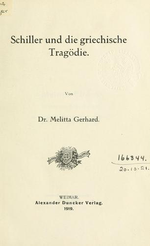 Schiller und die griechische Tragödie.