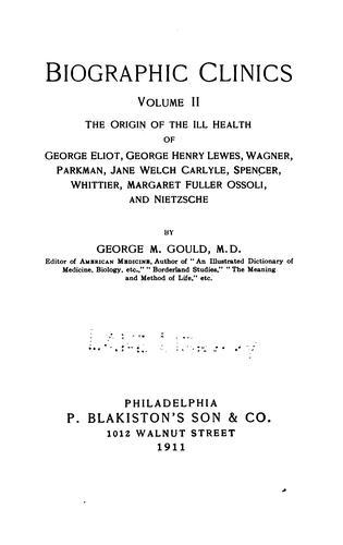 Biographic clinics. v. 6, 1909