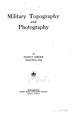 Military Topography and Photography