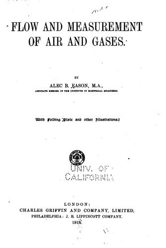 Flow and Measurement of Air and Gases