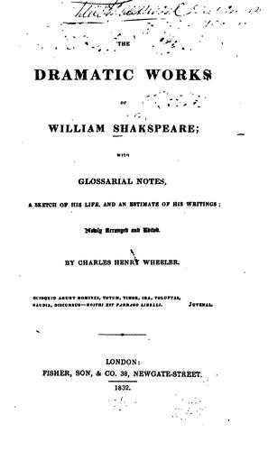 Download The Dramatic Works of William Shakspeare