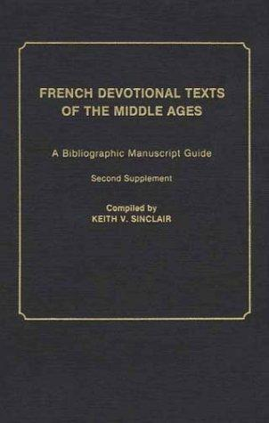 French devotional texts of the Middle Ages