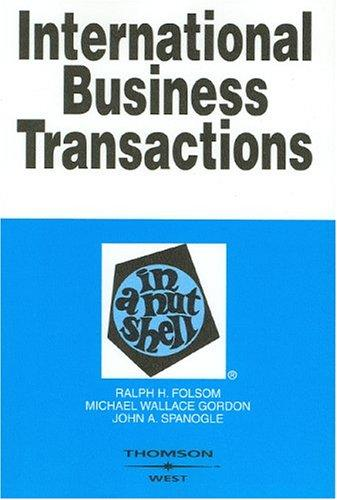 Download International business transactions in a nutshell
