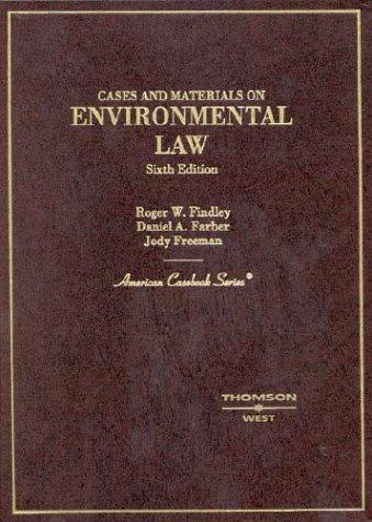 Download Cases and materials on environmental law