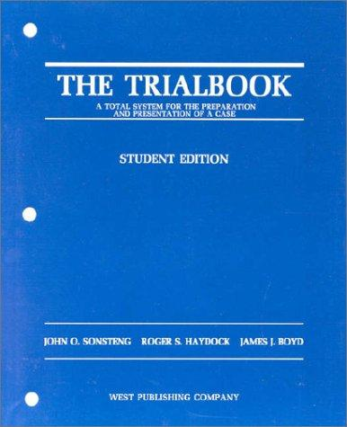 The trialbook