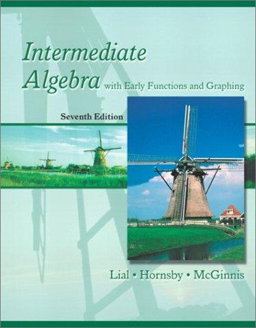 Intermediate algebra with early functions and graphing.