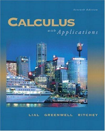 Calculus with applications.