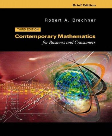 Download Contemporary mathematics for business and consumers