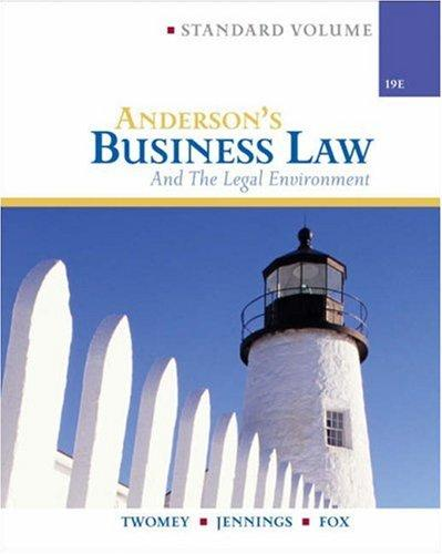 Anderson's business law and the legal environment
