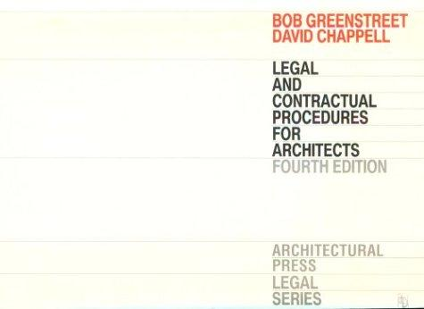 Legal and contractual procedures for architects