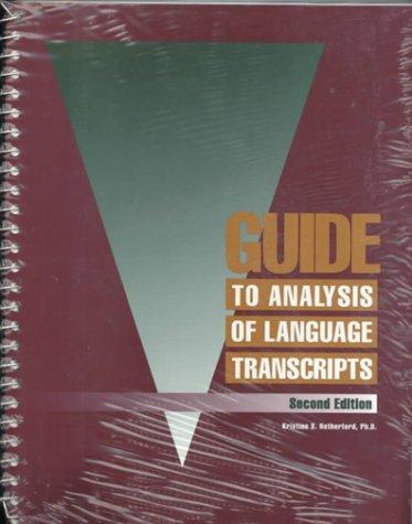 Download Guide to analysis of language transcripts