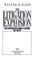 The litigation explosion