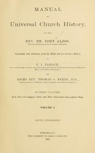 Manual of universal church history.