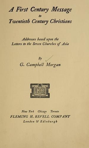 Download A first century message to twentieth century Christians