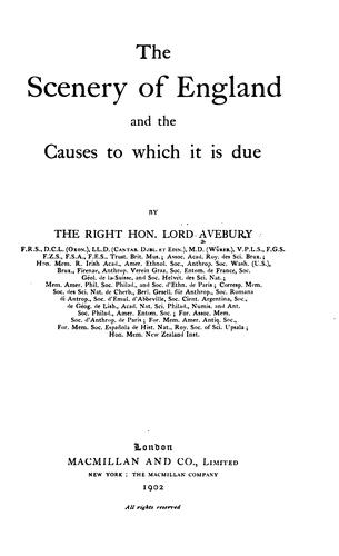 Download The scenery of England and the causes to which it is due
