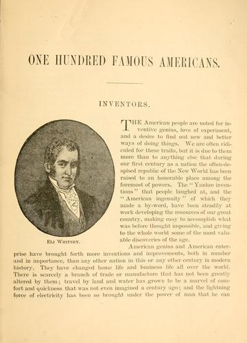 Download One hundred famous Americans