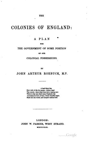 The colonies of England