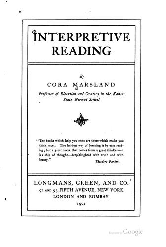 Interpretive reading