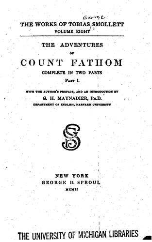 The works of Tobias Smollett.