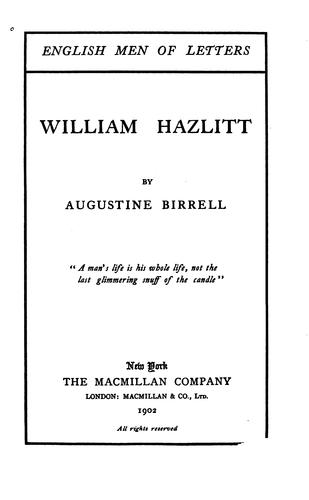 Download William Hazlitt