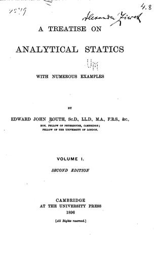 A treatise on analytical statics