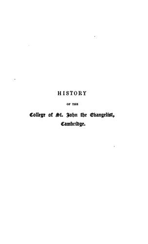 History of the College of St. John the evangelist, Cambridge
