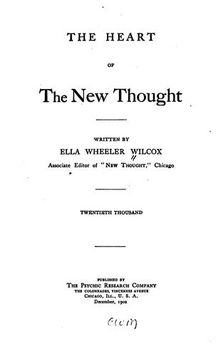 Download The heart of the new thought