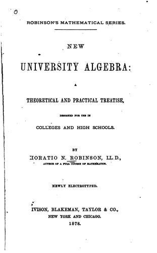 Download New university algebra.