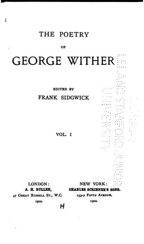 The poetry of George Wither