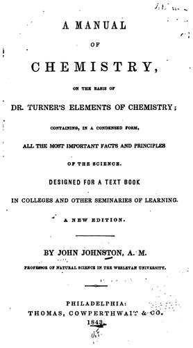 Download A manual of chemistry