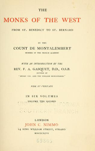 Download The monks of the West from St. Benedict to St. Bernard.