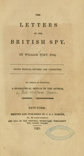 Download The letters of the British spy.by william wirt esq