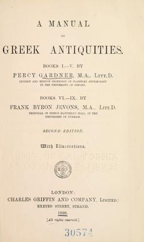 Download A manual of Greek antiquities.