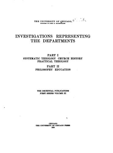Investigations representing the departments