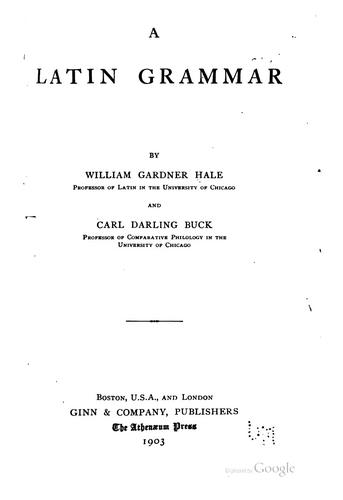 Download A Latin grammar