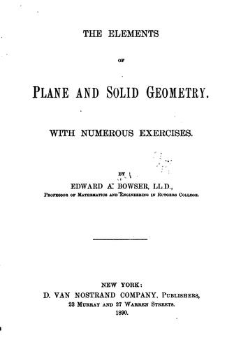 Download The elements of plane and solid geometry …