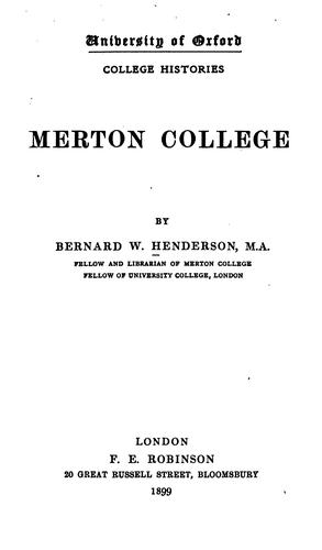 Download Merton College