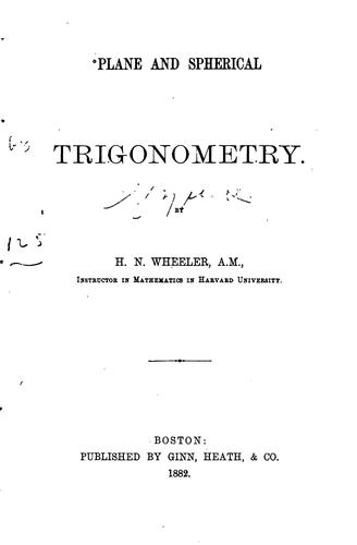 Download Plane and spherical trigonometry.