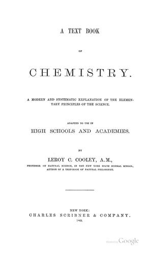 A text-book of chemistry.
